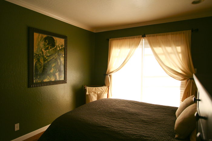 Master bedroom Before and after