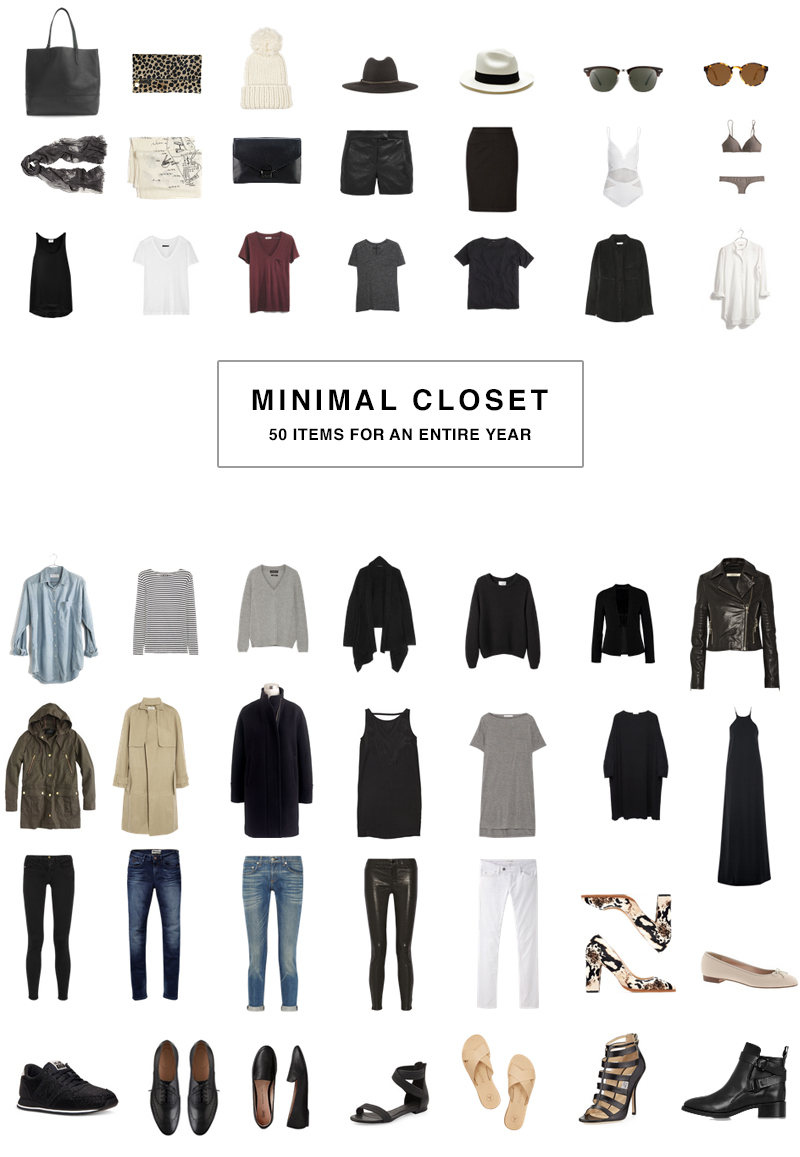 50 Item Wardrobe, a minimalists capsule wardrobe for an entire year.