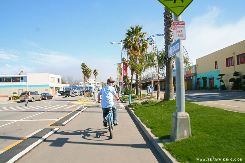 Riding Beach Cruisers in Santa Cruz, California