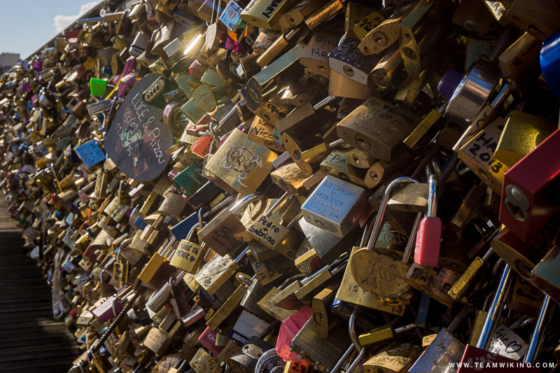 Pont de l'Archevêché - Love Locks Bridge in Paris, France