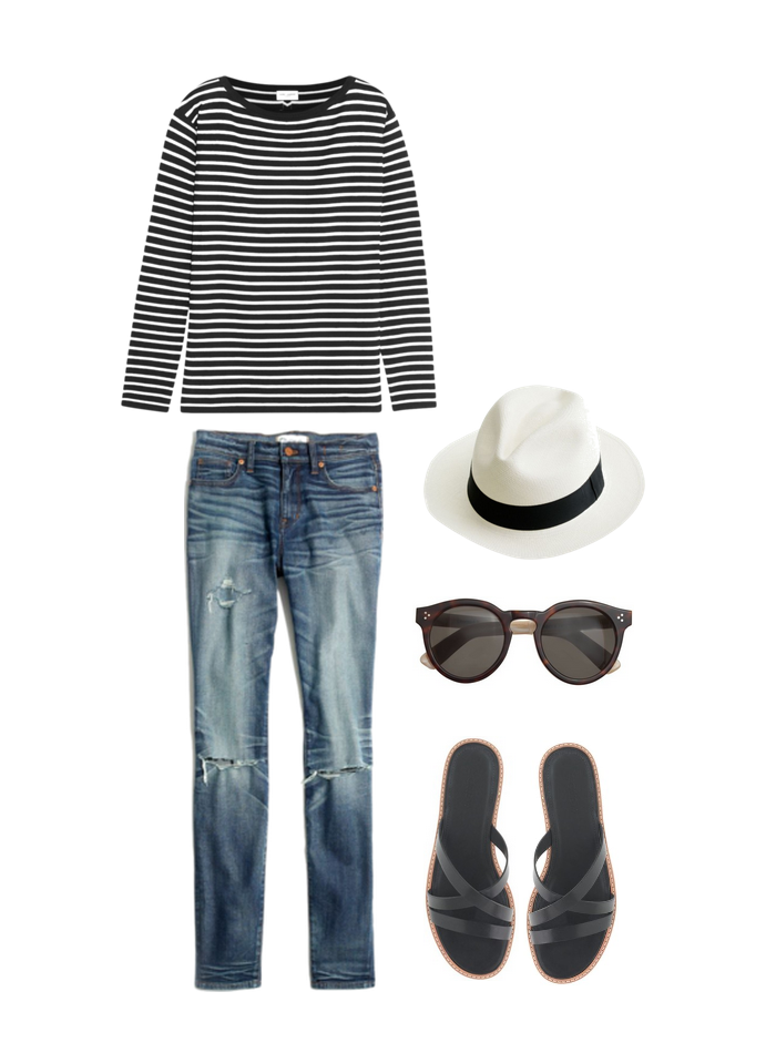 Minimal Closet, The Striped Tee during the Day