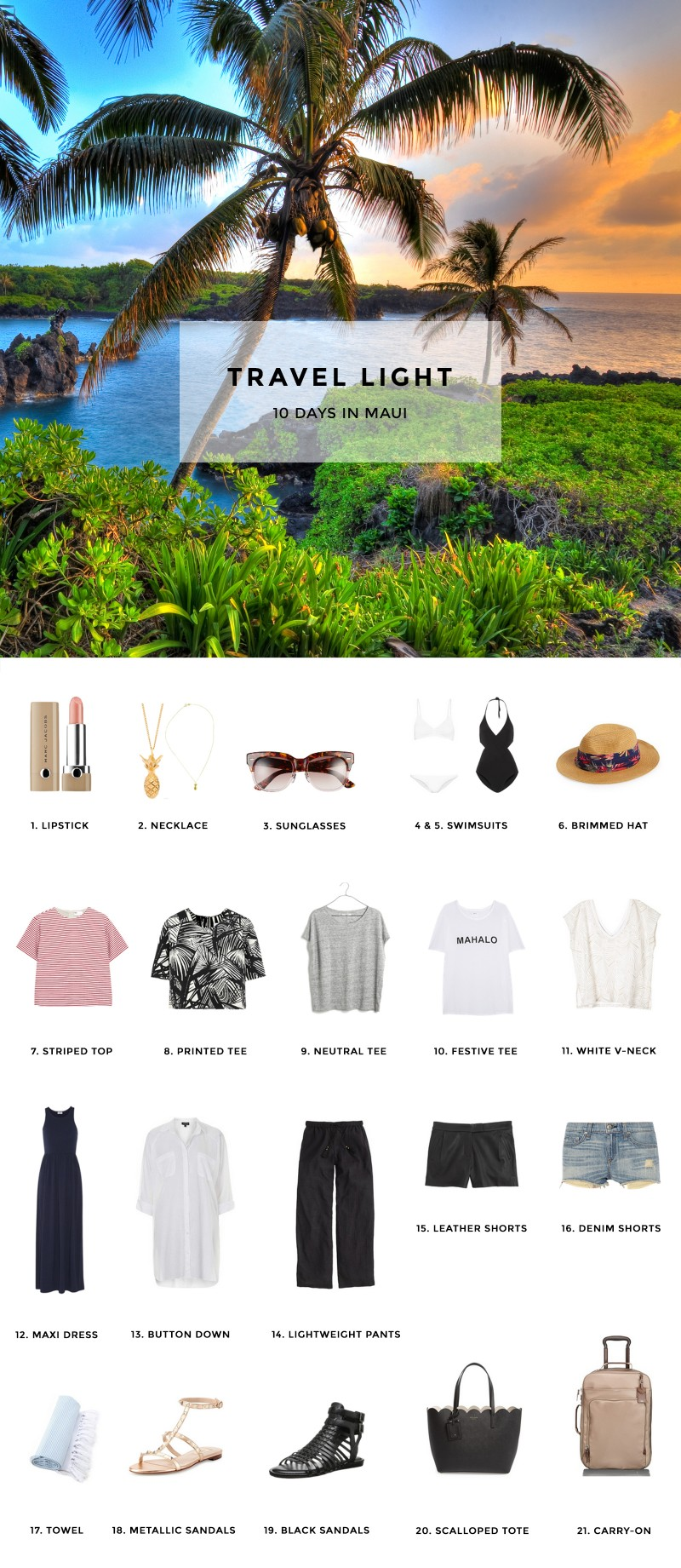 Pack for 10 Days in Maui, Hawaii