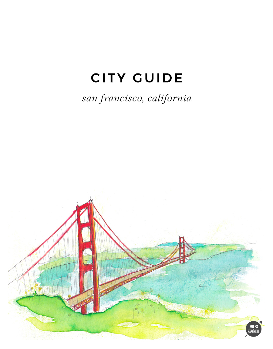 The Golden Gate Bridge, San Francisco City Guide. Illustrated by Marie Pottiez.