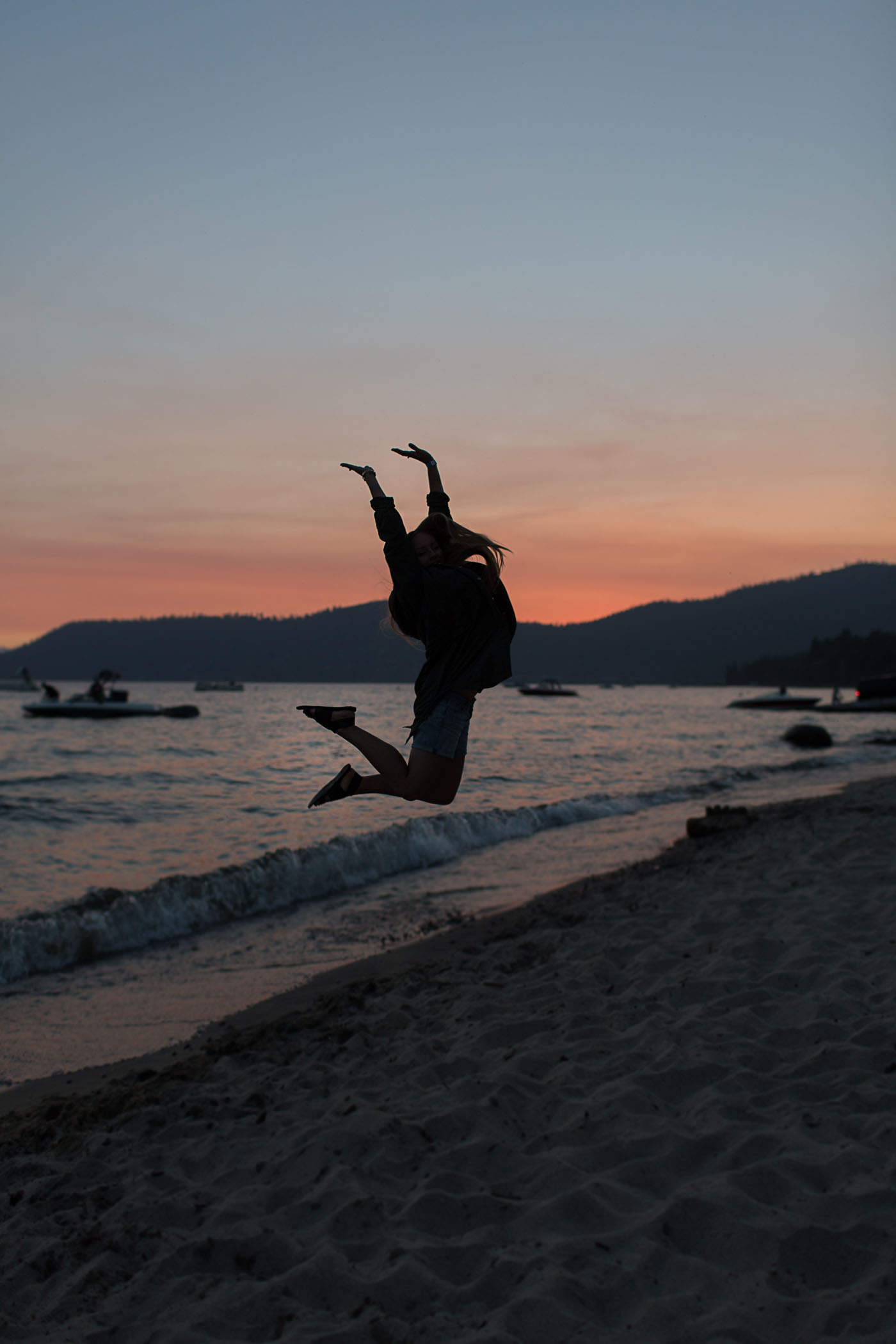 Jumping in the sunset