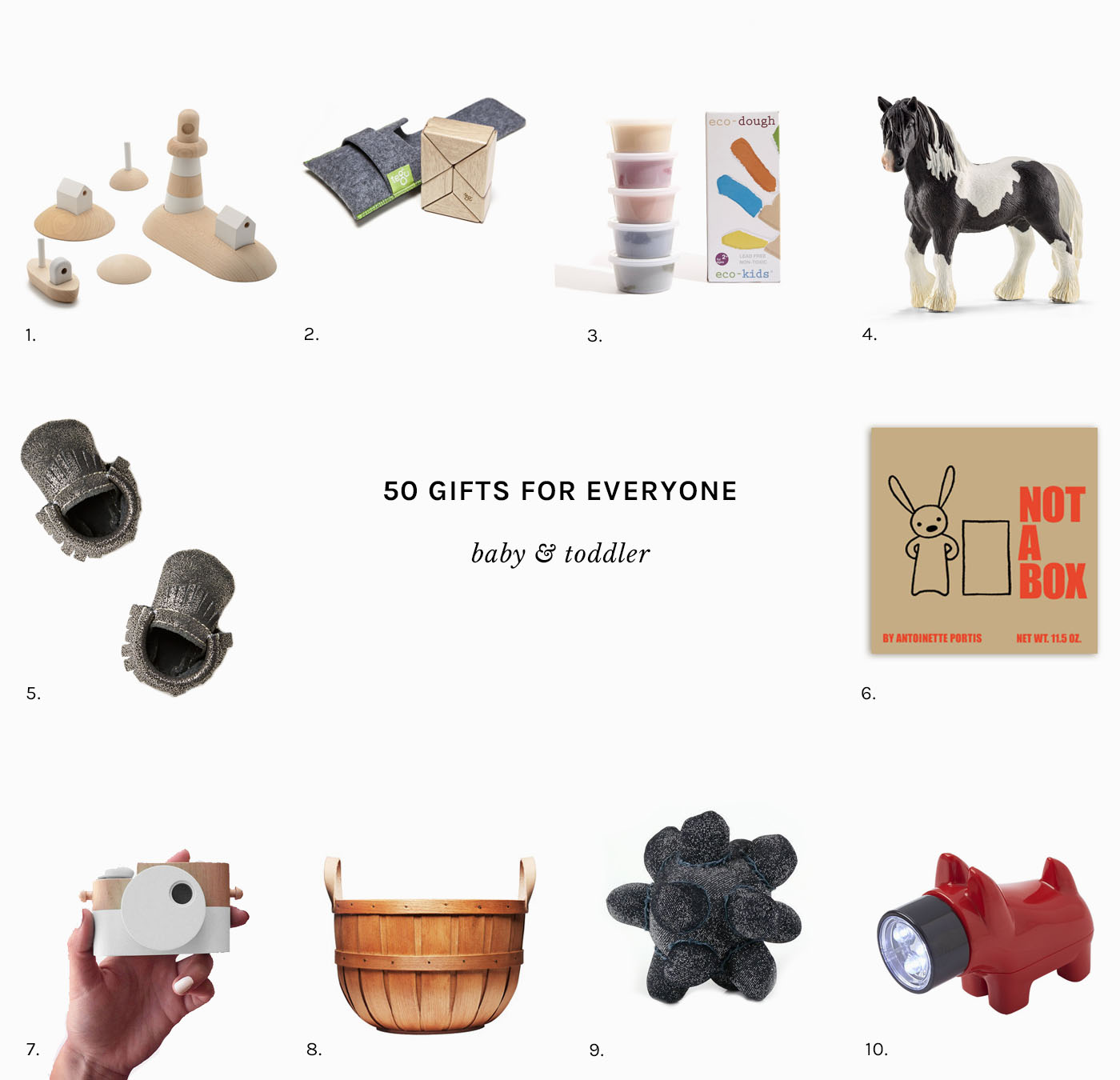 Perfect gifts for the curious babies & toddlers in your life. Part of a well-curated gift guide for everyone in your life.