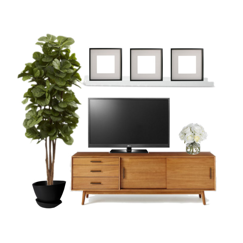 West Elm Mid Century Console Styled