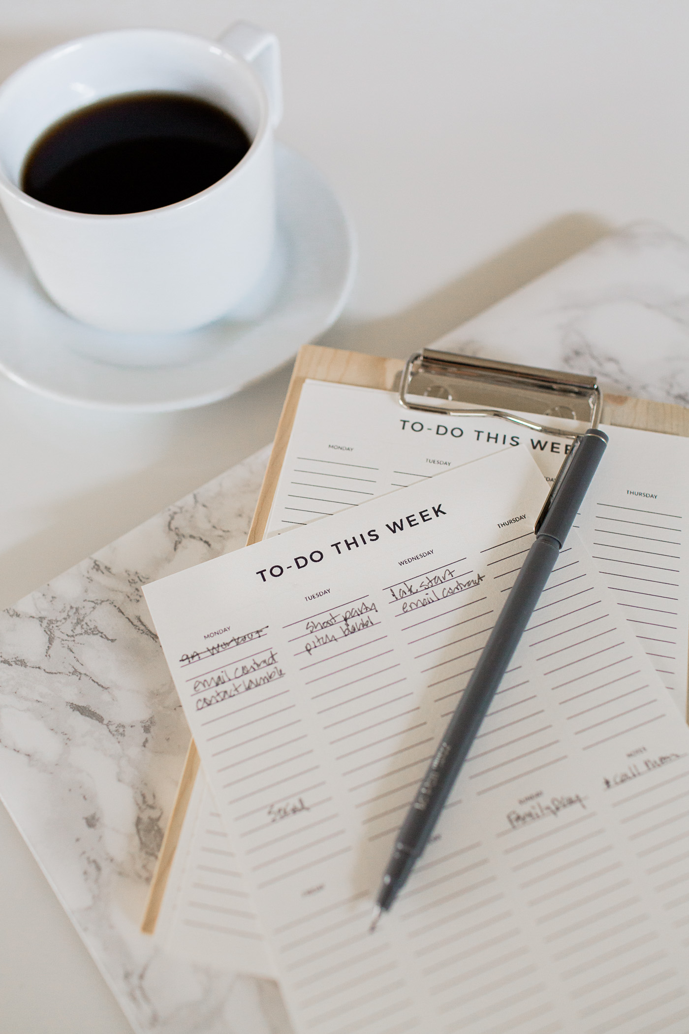 Free printable weekly to-do list