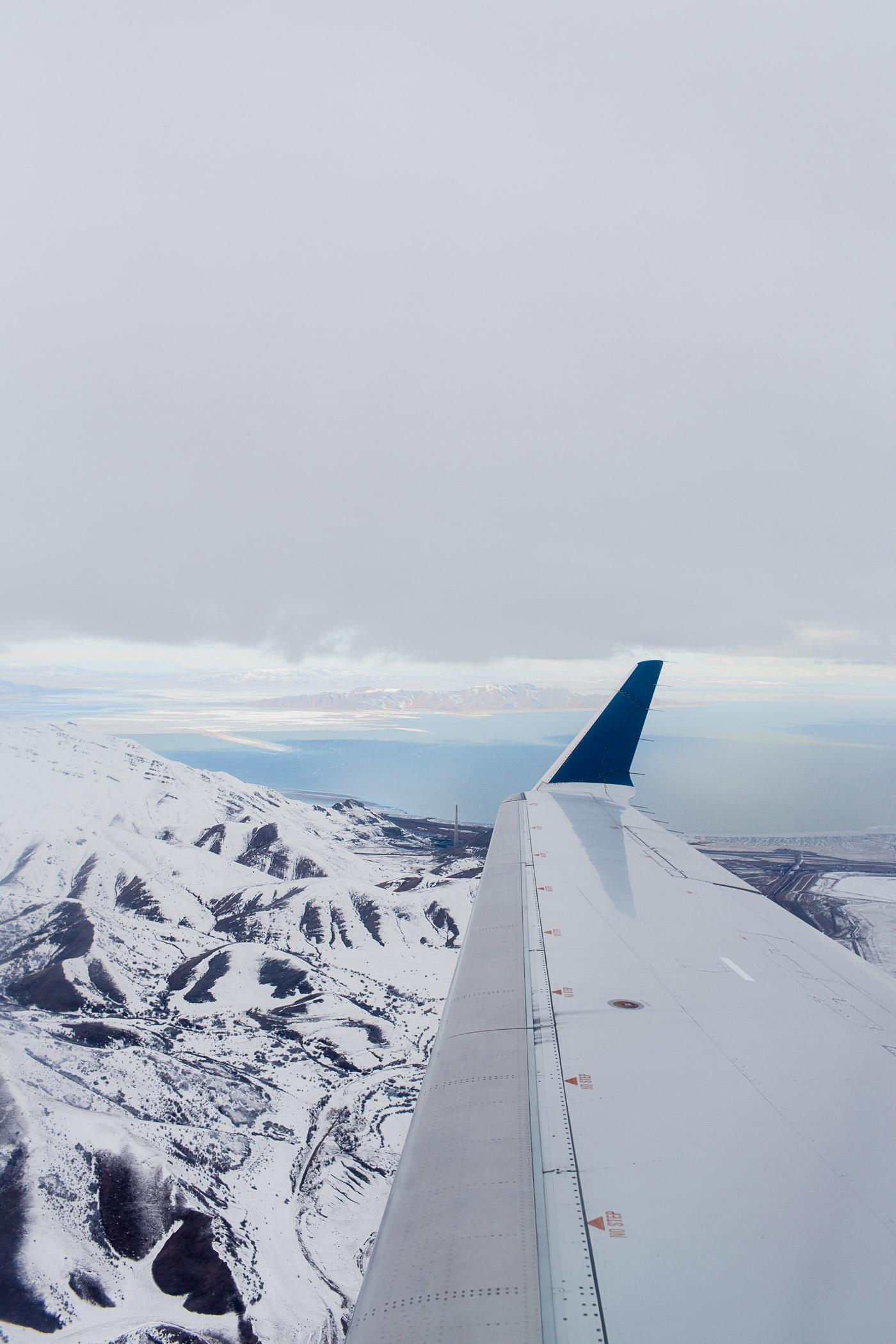 Flying to Salt Lake City, Utah