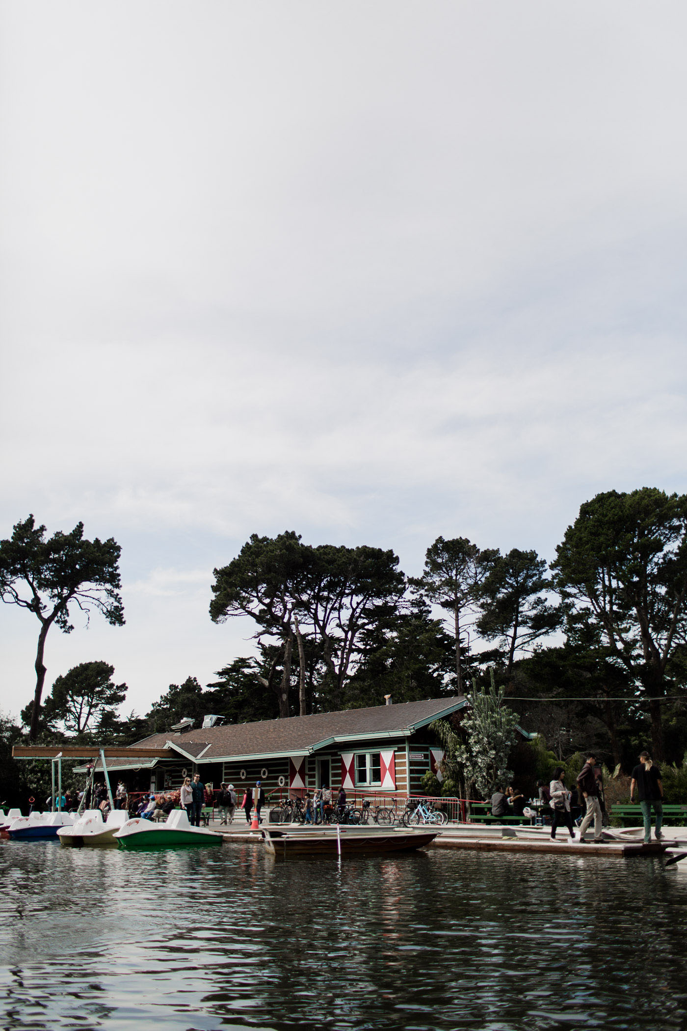 Stow Lake Boathouse and Pedal Boats in Golden Gate Park