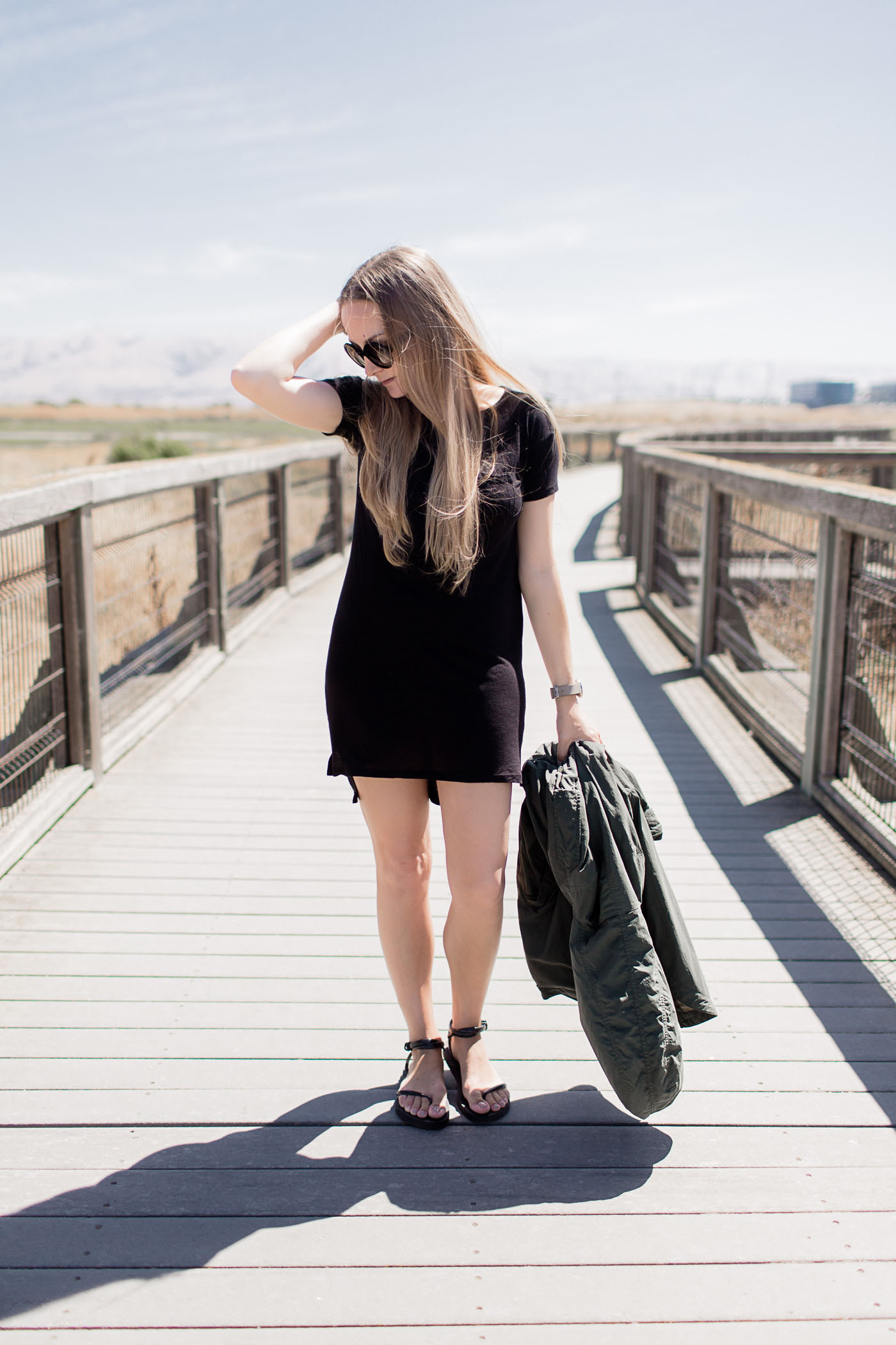 Casual Black Dress, a Summer to Fall transitional outfit.