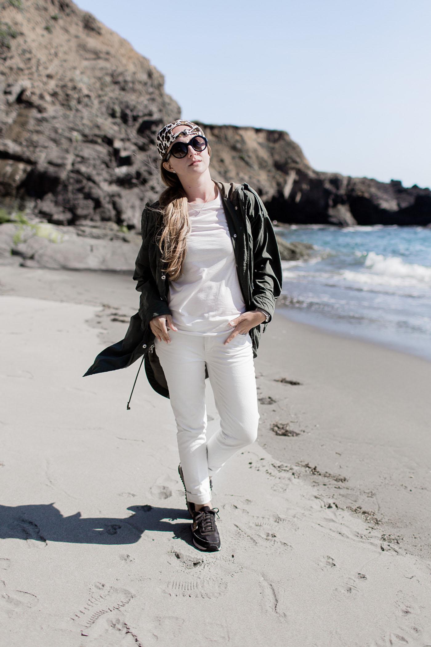 Beach outfit in Sea Ranch, California