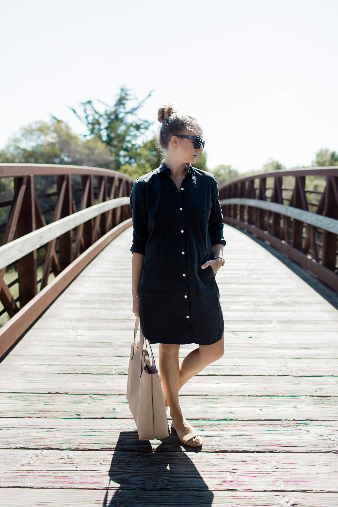 Favorite black shirtdress outfit