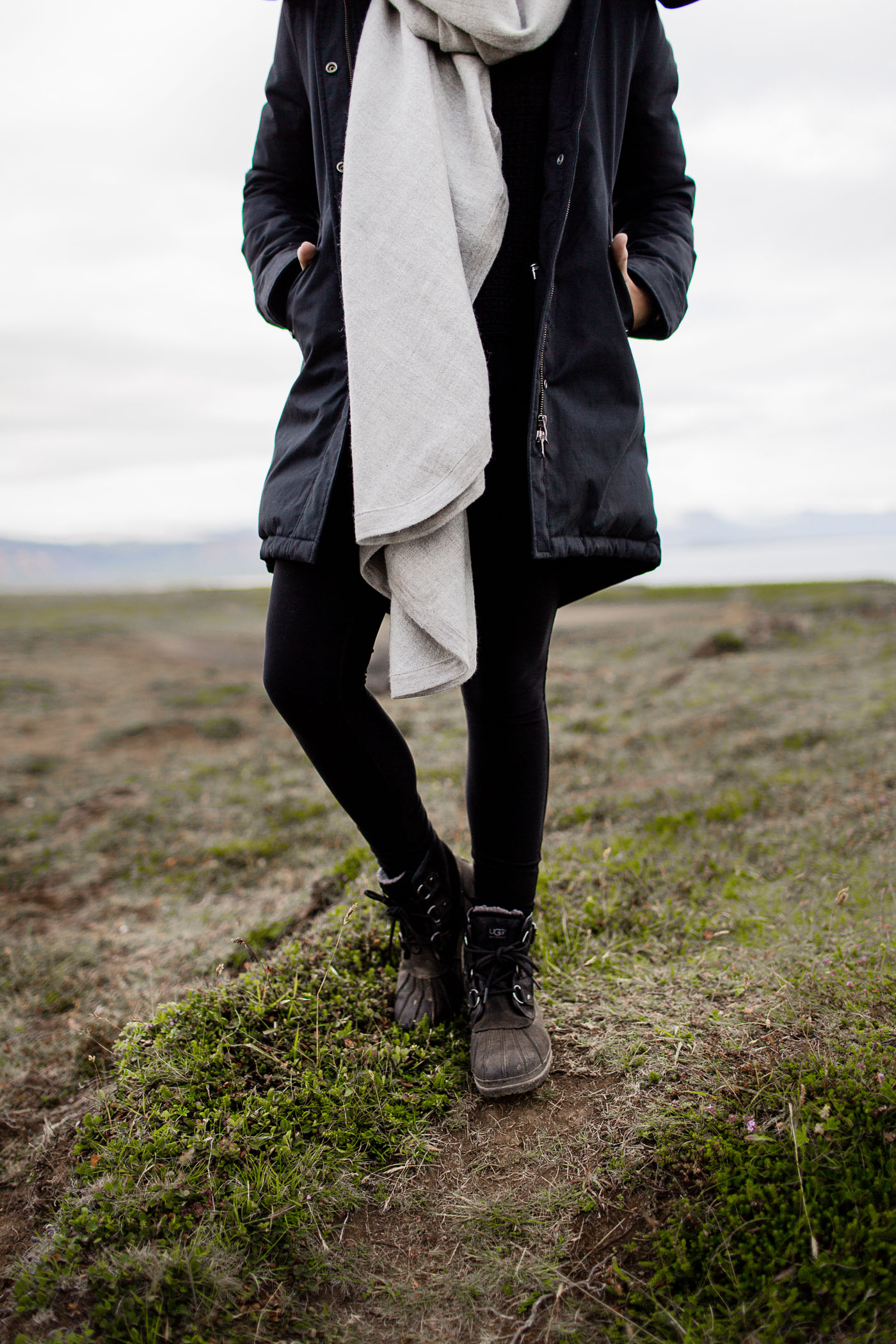 Layered outfit for an Iceland Summer