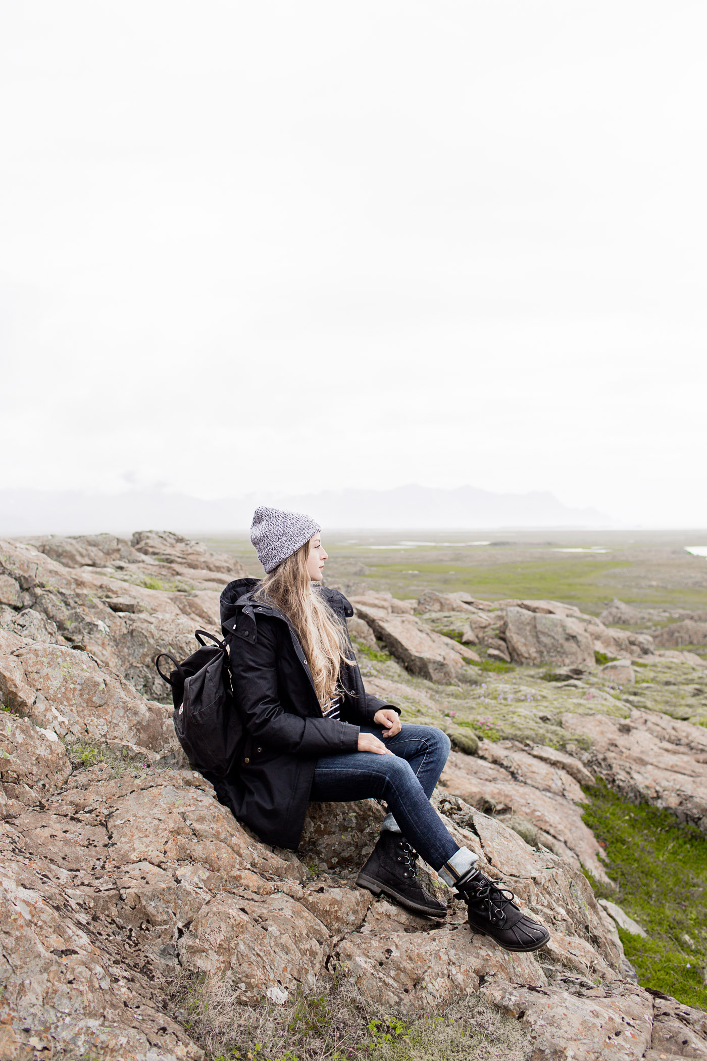 Summer outfit in Iceland, featuring Everlane, Heidi Merrick, Spiewak, and Ugg Australia.