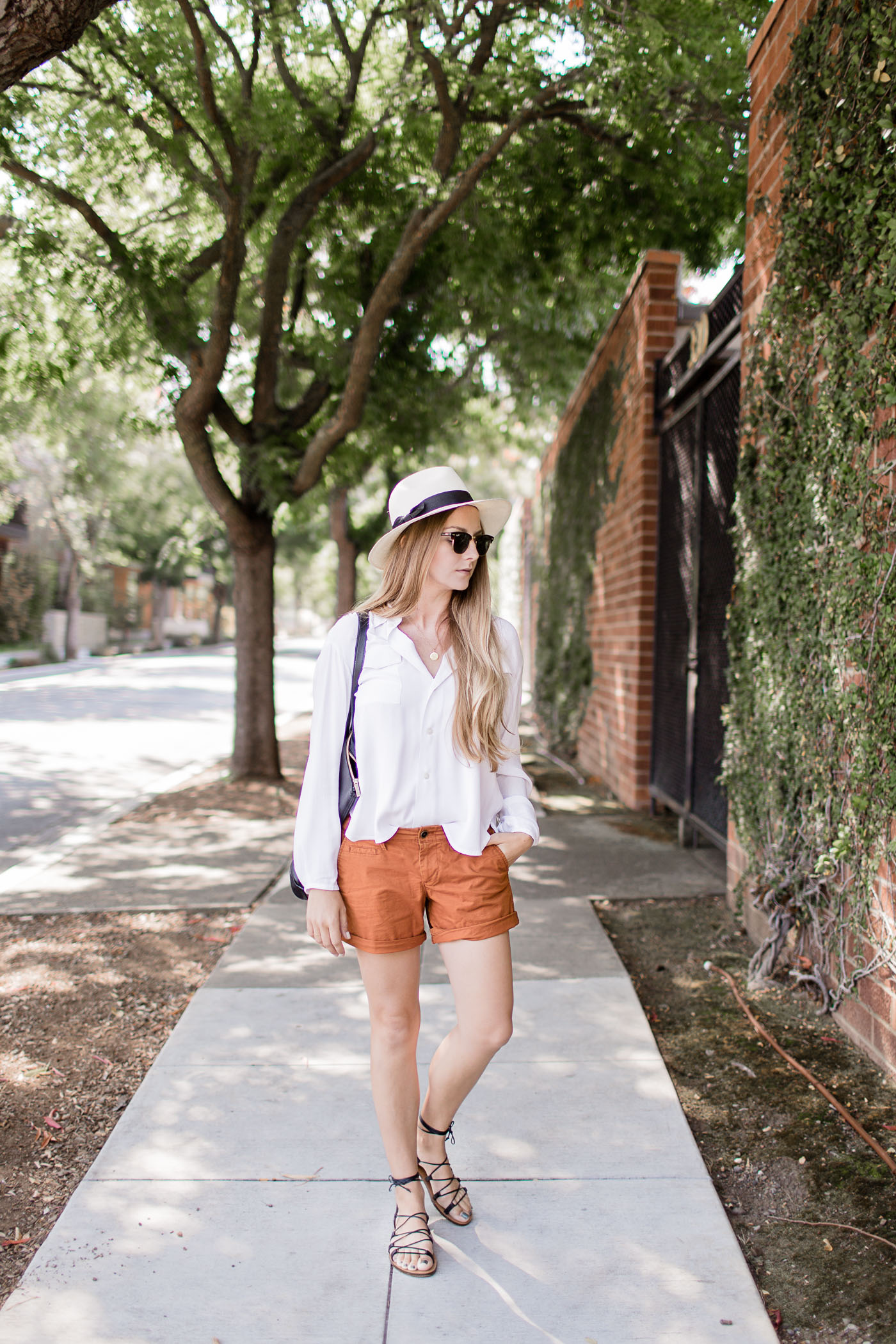 Summer to Fall outfit, featuring Cuyana, Ray-Ban, Maps by A.Jaffe, Hope, Old Navy, Ariel Gordon Jewelry, and J.Crew