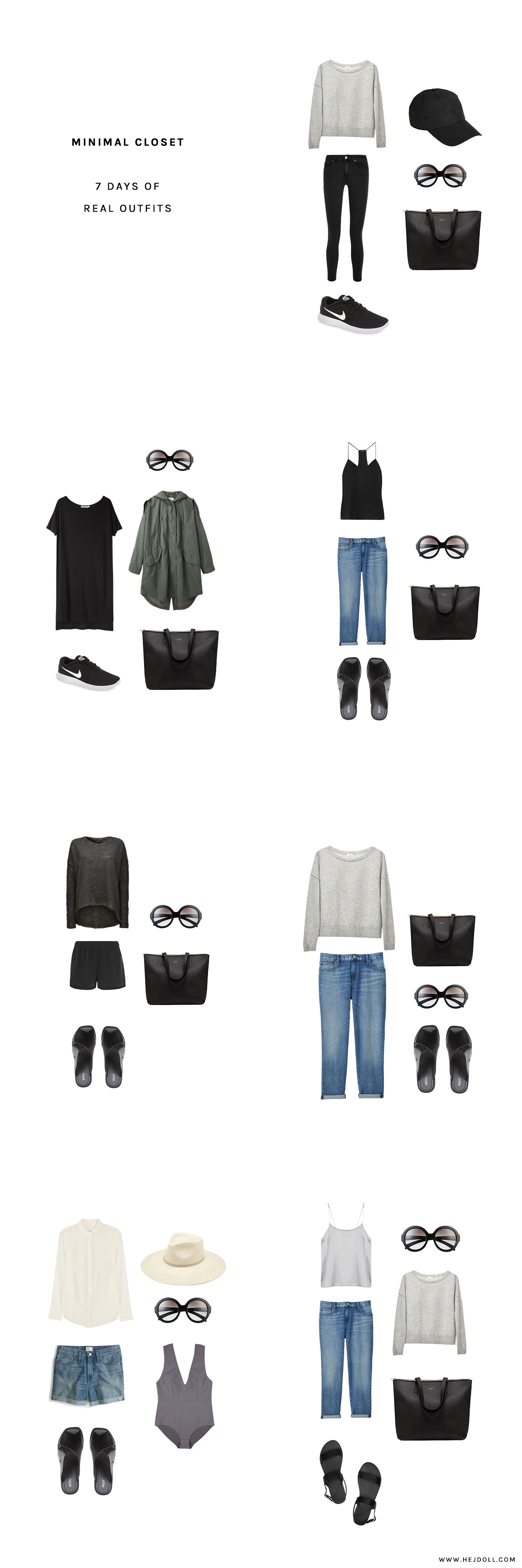 My Minimal Closet - 7 Days of Real Life Outfits