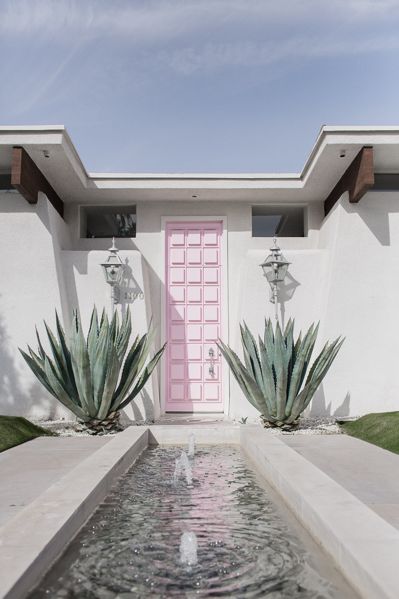 That Pink Door - A Non-Colorful Palm Springs Door Tour