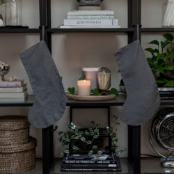 Simple DIY Linen Stocking